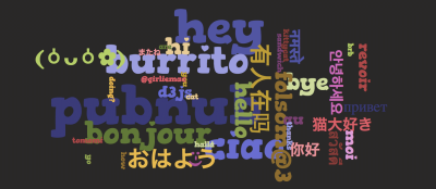 Quick Word Cloud from a Chatroom with D3js