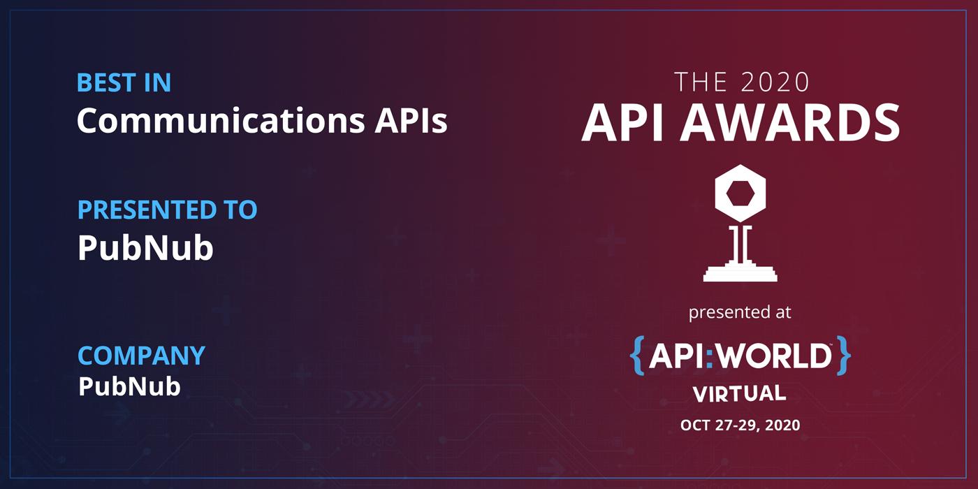 Announcing Our 2020 API Award