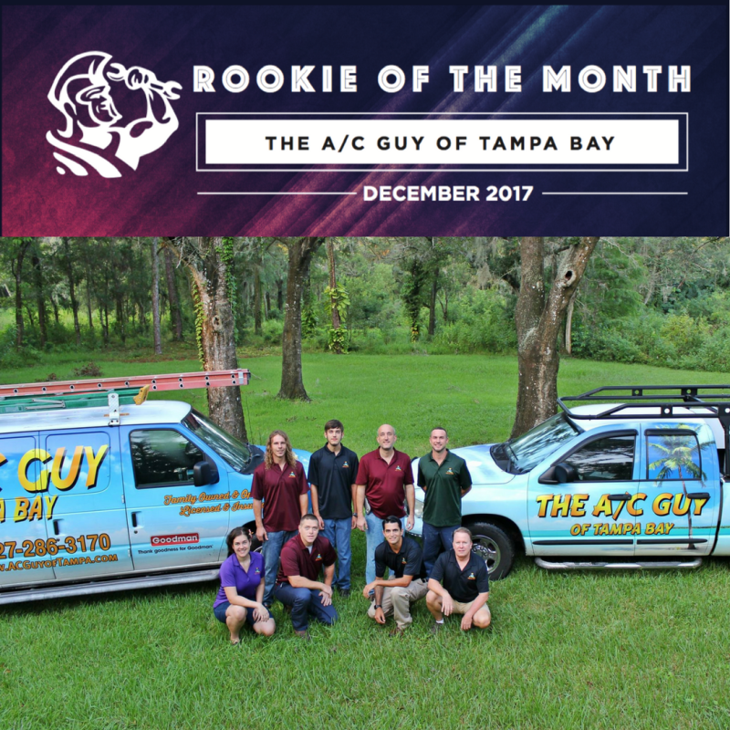 December 2017 Rookie of the Month