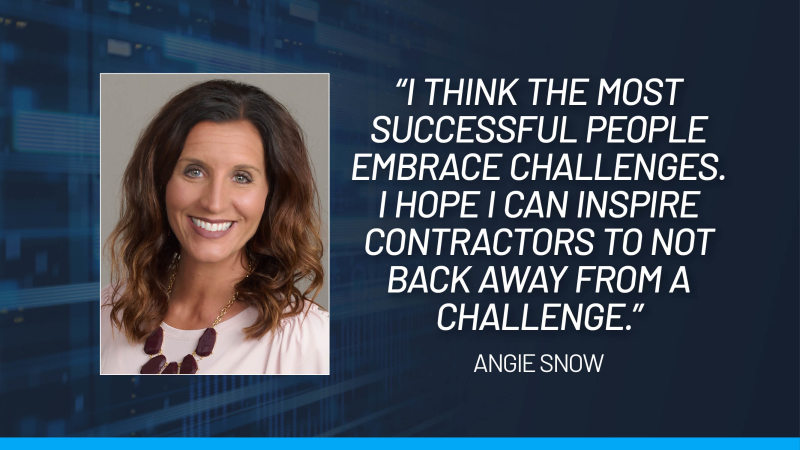 Angie Snow Heading