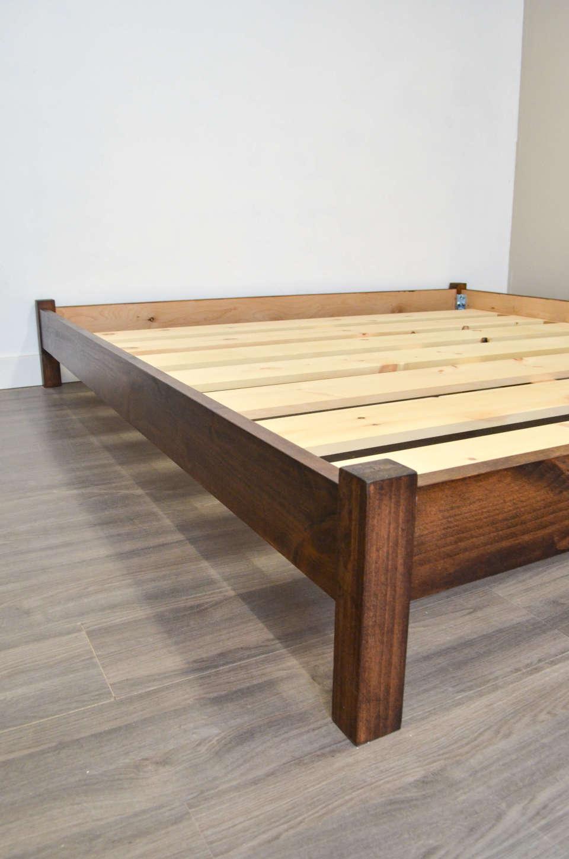 Maza Bed Frame No Headboard Bath Built Custom Wood Furniture 2020