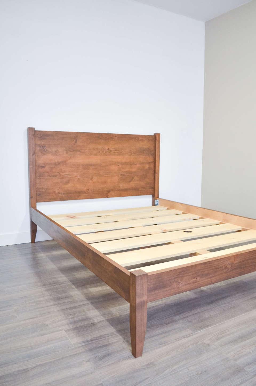 Visby Bed Frame Bath Built Custom Wood Furniture