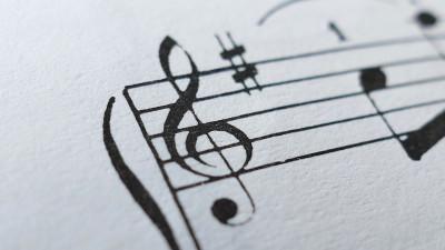 Music sheet up close