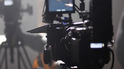 Digital camera on set