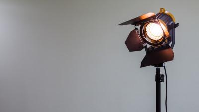 Production light on white background