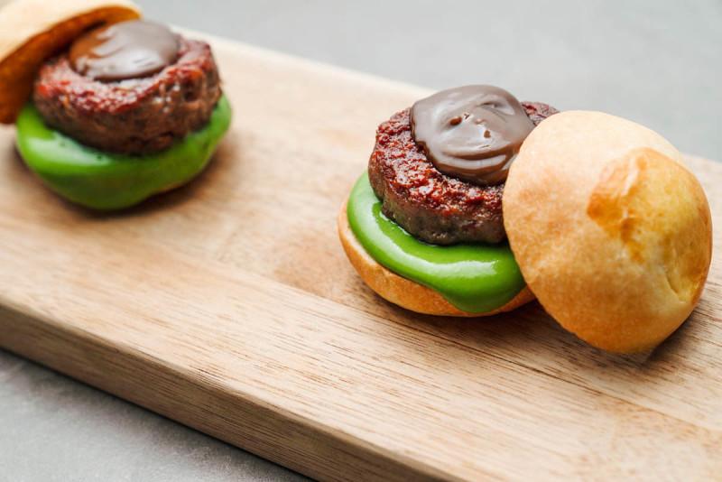 Massimo Bottura's burger up close