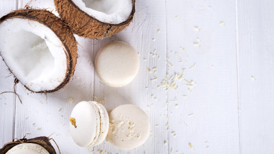 White Coconuts and Macarons