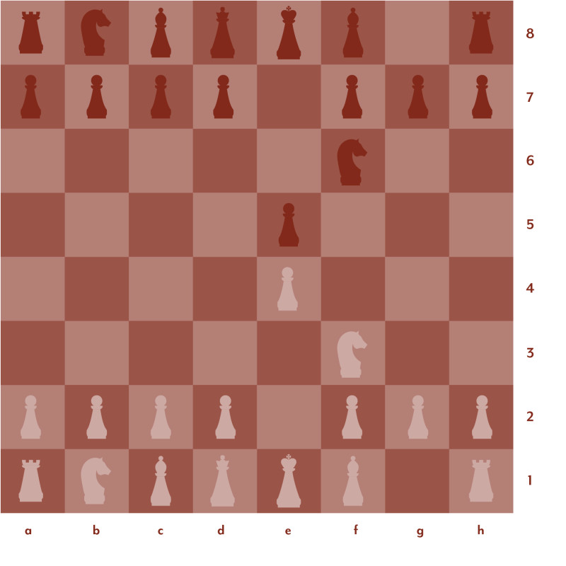 Red and pink chess board setup 4