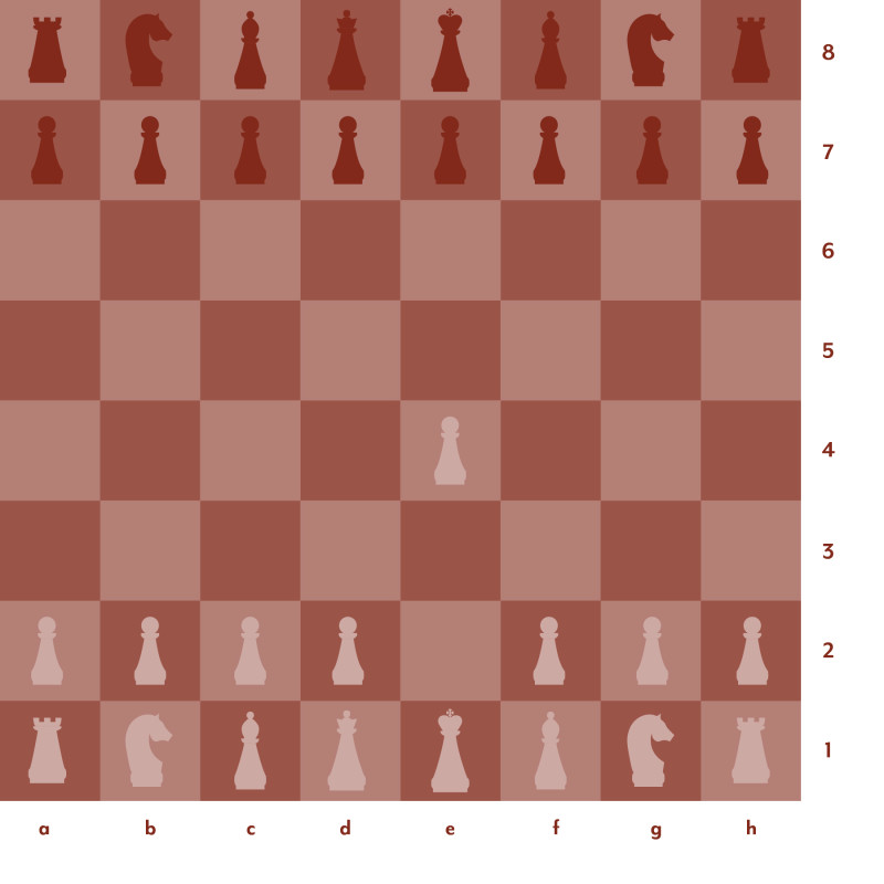 Red and pink chess board setup 1
