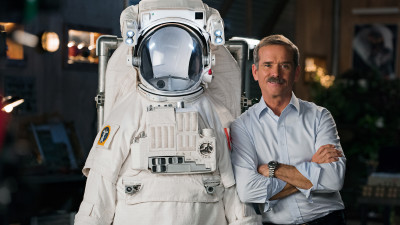Chris Hadfield with astronaut suit