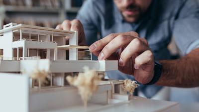 Architect Designing Building