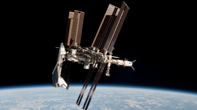 ISS space ship in space