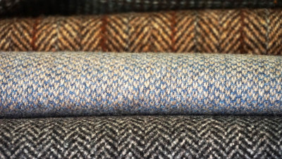 Types of tweed fabric in different colors