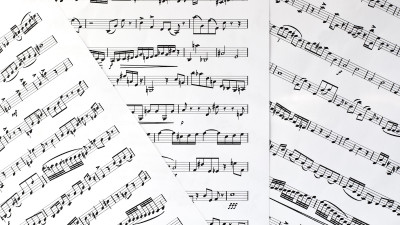 Sheet with musical notes