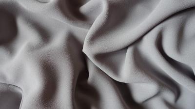 Grey crepe fabric