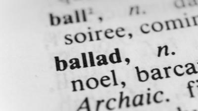 ballad definition on paper