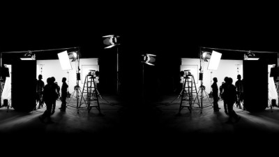 Film set in black and white