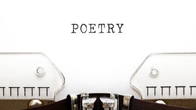 Poetry on typewriter