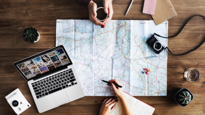 travel photography map