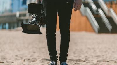 film camera getting ready to shoot b roll