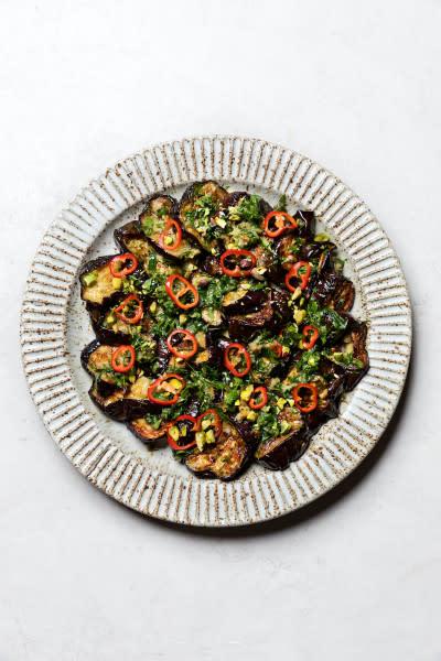 Ottolenghi's Roasted Eggplant Salad Recipe