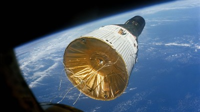 Gemini spacecraft in space near planet earth