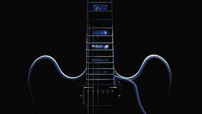 electric guitar on a black background