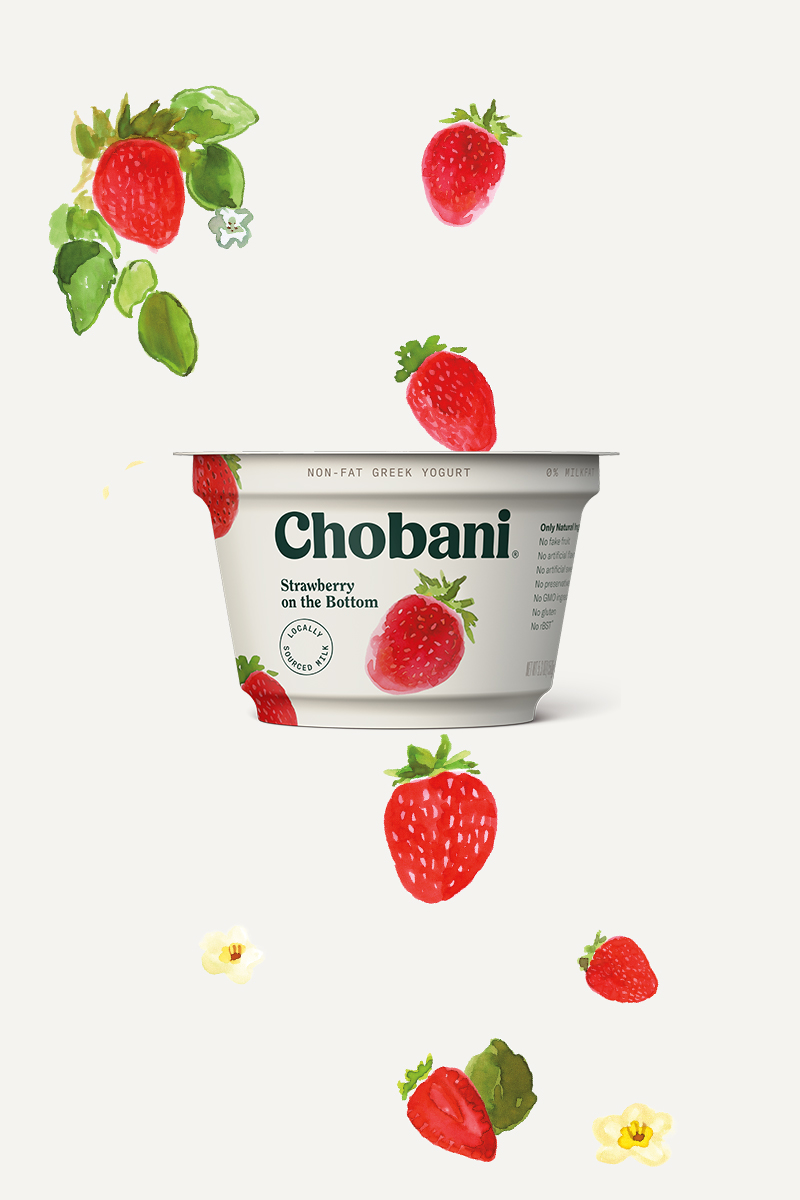 Greek Fruit On The Bottom Strawberry Chobani 174
