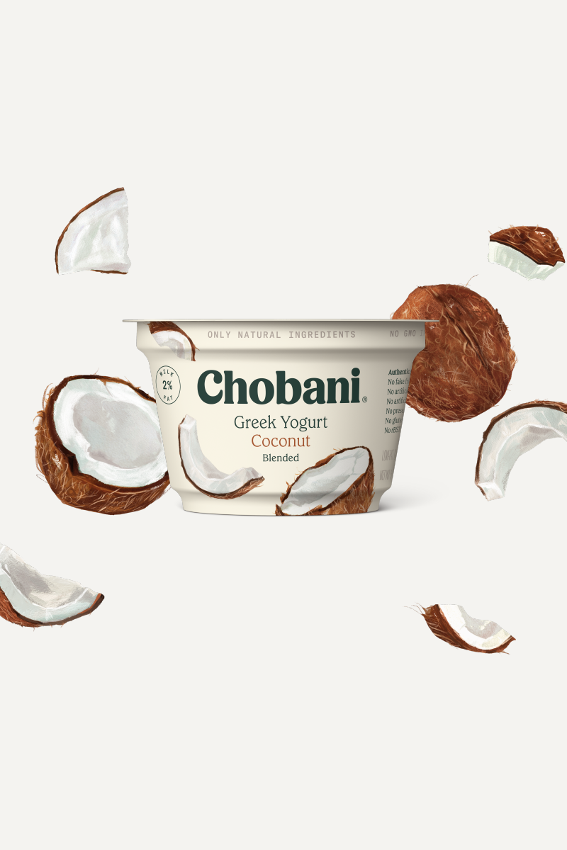 Blended Greek Yogurt   Coconut Cup