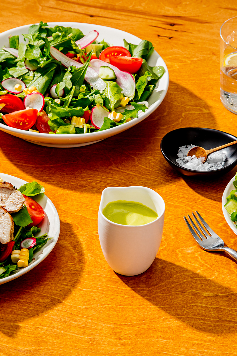 Recipes Grilled Chicken And Arugula Salad With Creamy