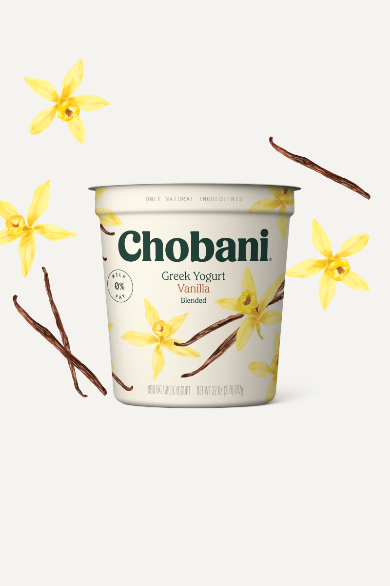 Blended Greek Yogurt | Vanilla Large-size Tub | Chobani®