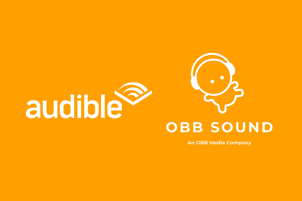 The Audible and OBB Sound logo appear against an orange background.