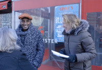 Marcus Samuelsson outside his restaurant, The Red Rooster, in Harlem.