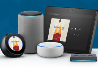 Audible books displayed on various Alexa-enabled devices.