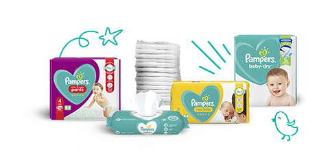 Pampers Nappies Nappy Pants and Wipes