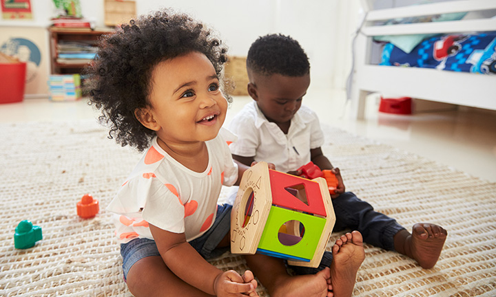 Parallel play in toddlers