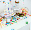 Sweets themed table for baby shower