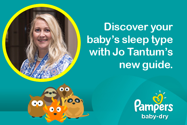 Discover your baby's sleep type with Jo Tantum's new guide.