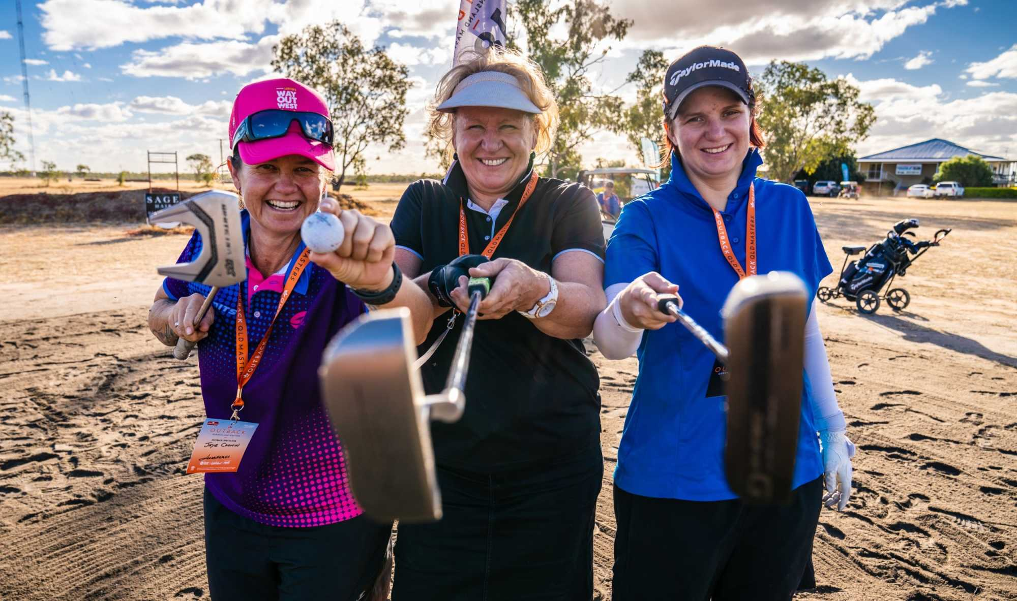 Participants enjoying the 2019 Outback Queensland Masters.