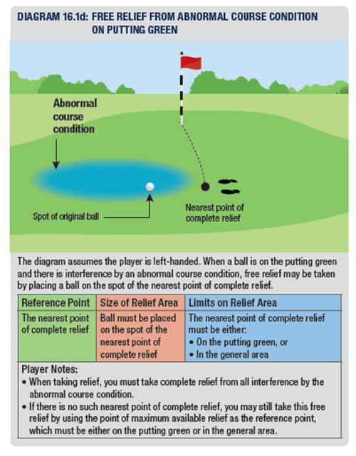The Putting Green – Basic Rules and Common Relief Situations