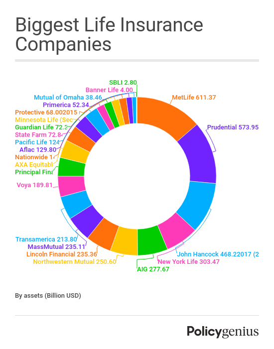 Top Ten Life Insurance Companies >> What Are The Largest Life Insurance Companies