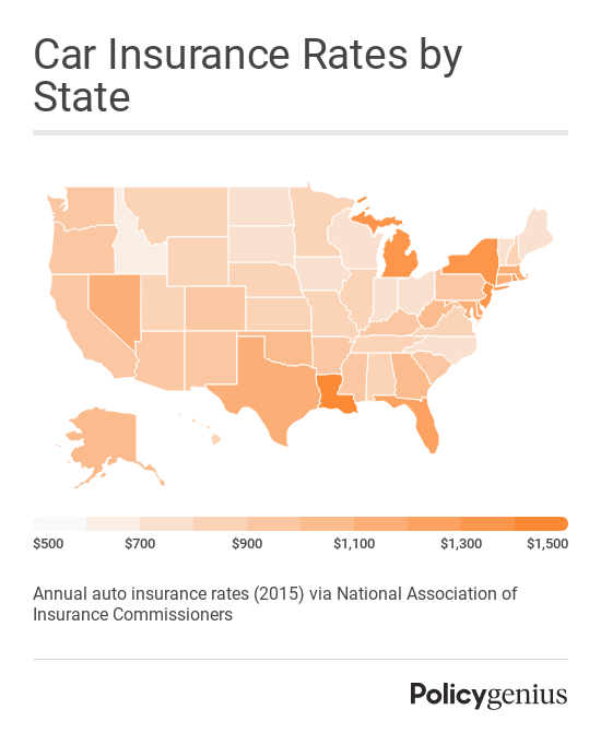 How much is car insurance? The average cost of car insurance rates by state in 2015 was $1,099 annually per the National Association of Insurance Commissioners.