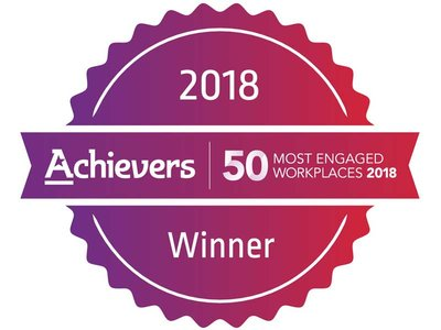 2018 Winner - Achievers 50 Most Engaged Workplaces