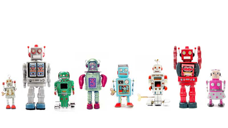 robots standing in a line