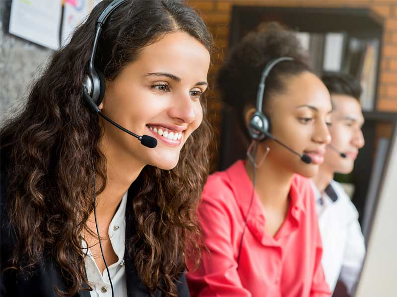 Contact center agents on call