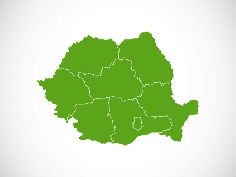 Romania country outline