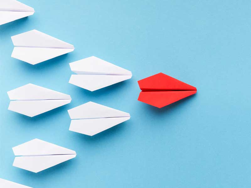 paper airplanes in formation