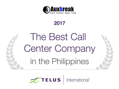 TI Auxbreak Best Call Center Company Award - 2017