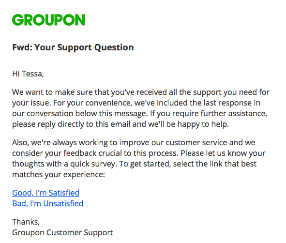 Groupon customersupport