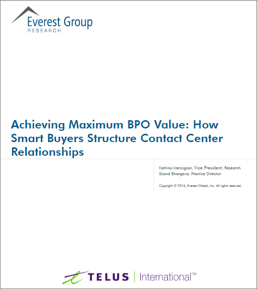 Report cover page: Achieving Maximum BPO Value